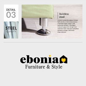 Ebonia COUCH Sofa Bed Type A Kain Yellow