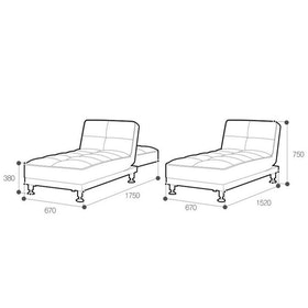 Ebonia COUCH Sofa Bed Type B Mint Blue