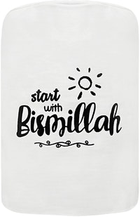 "EL's Gallery Cover Galon ""Start With Bismillah"" Putih"