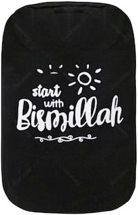"EL's Gallery Cover Galon ""Start With Bismillah"" Hitam"
