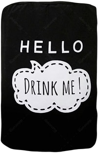 "EL's Gallery Cover Galon ""Hello Drink Me!"" Hitam"