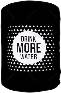 "EL's Gallery Cover Galon ""Drink more water"" Hitam"