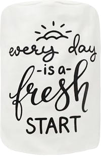 """EL's Gallery Cover Galon """"Everyday is a fresh start"""" Putih"""