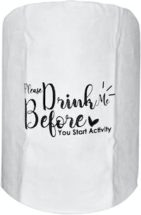 """EL's Gallery Cover Galon """"Please Drink Me Before You Start Activity"""" Putih"""