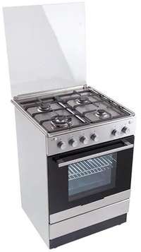 Electrolux 60cm Gas Hob Gas Oven Free Standing Cooker - EKG61107OX