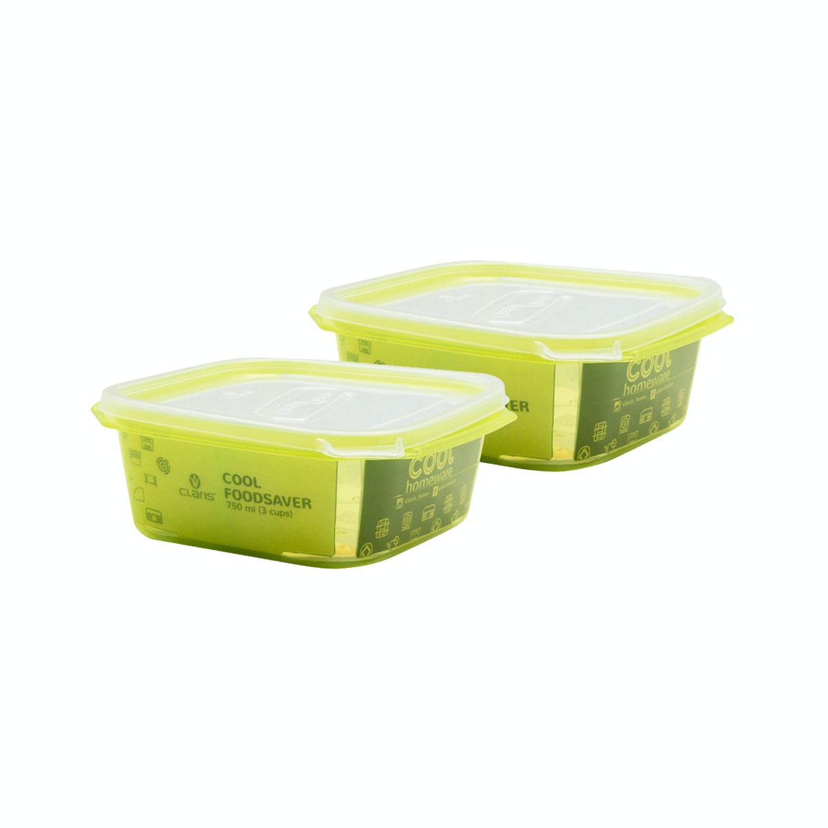 Claris Paket SQ Foodsaver 2727 (1 paket isi 2 pcs)-Green