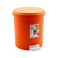 Claris Castellini Dustbin 1160 - Orange (5.5 Liter) Tempat Sampah Plastik