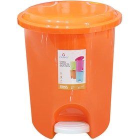 Claris Vineeta Dustbin 1167 - Orange (20 Liter)