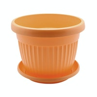 Claris Pot Bunga Florance + Tatakan 5825 D - Orange