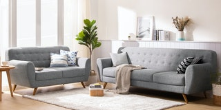 Ezma Conrad Sofa Set Dark Grey
