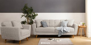 Ezma Stefan Sofa Set Grey