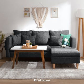 Ezma Hansen Sofa Set with Coffee Table 90 Hitam