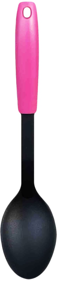 Fackelmann PP Handle Nylon Solid Spoon Color Dark Pink