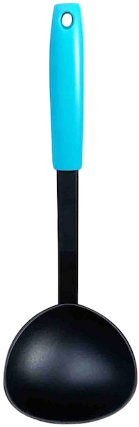 Fackelmann PP Handle Nylon Soup Ladle Color Ocean Blue