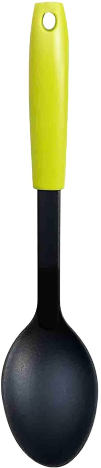 Fackelmann PP Handle Nylon Solid Spoon Color Lime Green