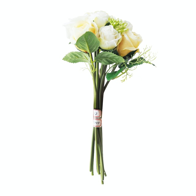 Flower Corner Rose and Berry Bouquet - White Yellow