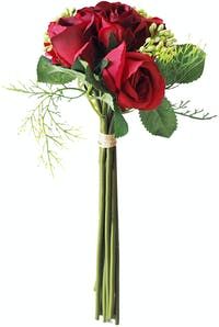 Flower Corner Rose and Berry Bouquet - Red