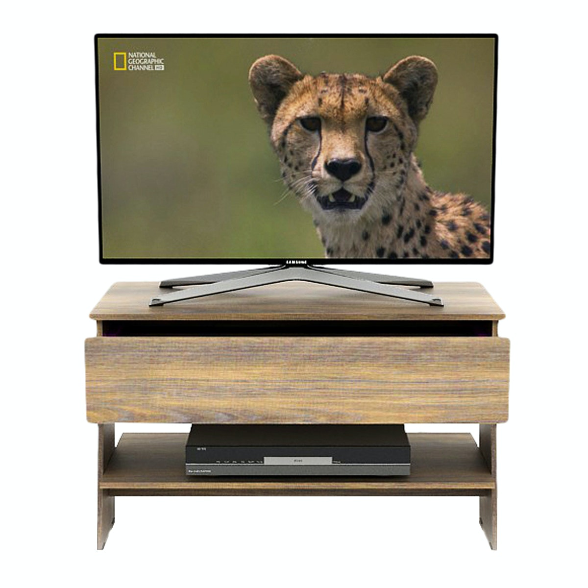 Funika VLTV 81 Japan OAK Brown - Rak TV Minimalis dengan Laci