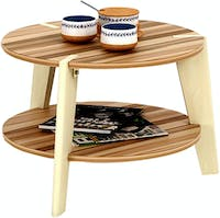 Funika Avela Coffee Table Cokelat Muda