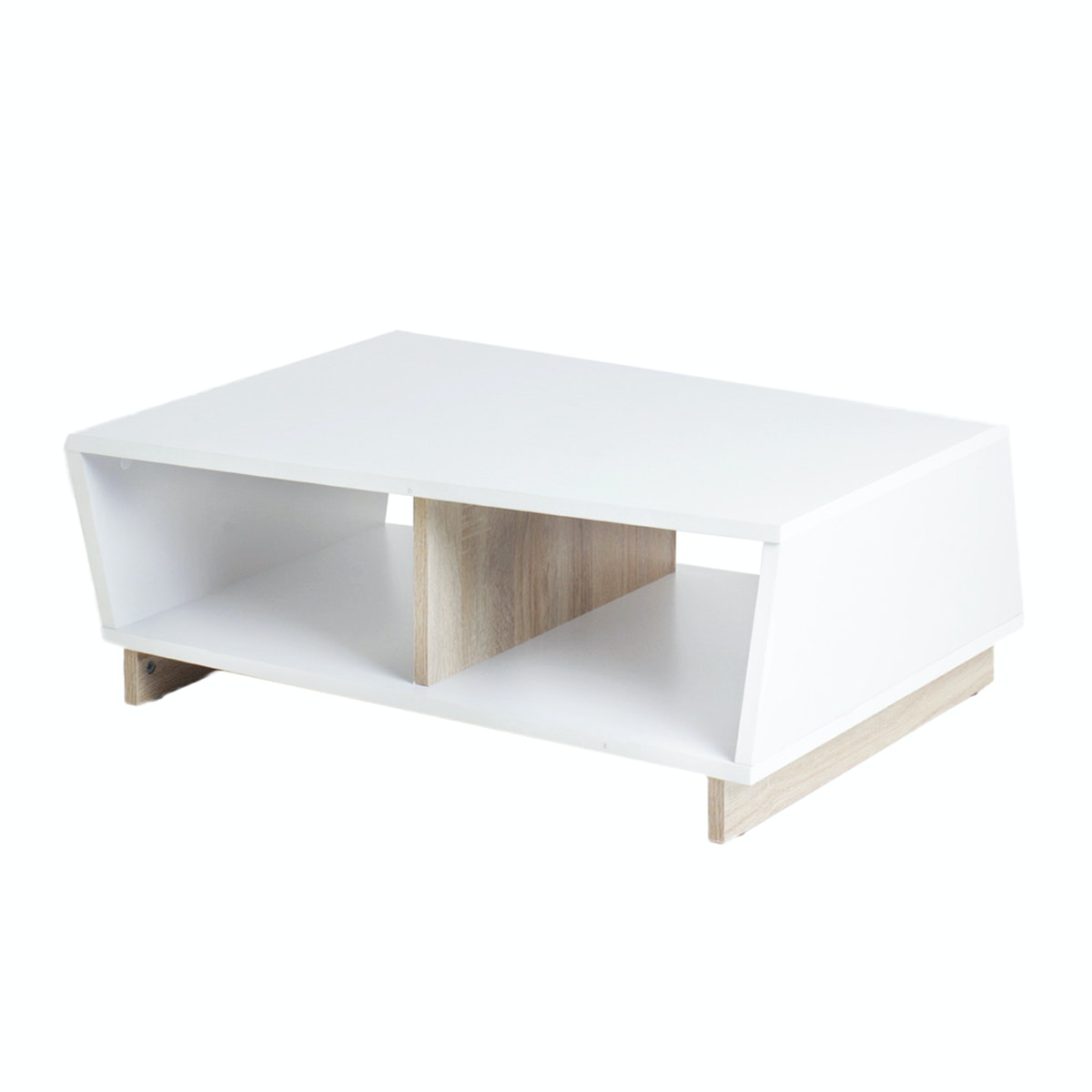 Funika Regina Coffee Table – White and Sonoma OAK