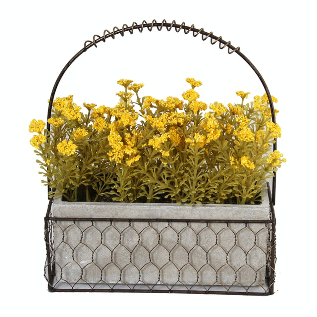 Festiva Furniture Artificial Plant Set With Vase 0339 17 Yellow Yw5