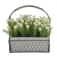 Festiva Furniture Artificial Plant Set With Vase 0339 17 White Yw5