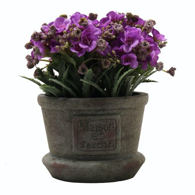 Festiva furniture Artificial Plant With Vase 0339 21 Purple Yw5