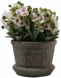 Festiva Furniture Artificial Plant With Vase 0339 21 White Yw5
