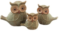 Festiva furniture Ceramic Owl Set Of Three 8069 5 Yw5