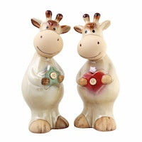 Festiva furniture Ceramic Couple Cow Set Of Two 8096 9 Yw5