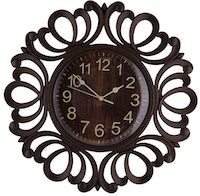 Festiva furniture Wall Clock 1599 4 Dark Brown Yw5