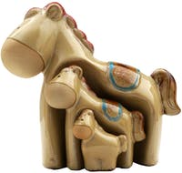Festiva Furniture Statue Horse Set Of 3 7882-15 13x9x15.5