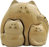 Festiva Furniture Statue Cat Set Of 3 7882-16 14x7.5x13.5