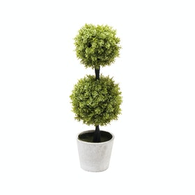 Festiva Furniture Artificial Plant Double Grass Ball With Vase 0339-4
