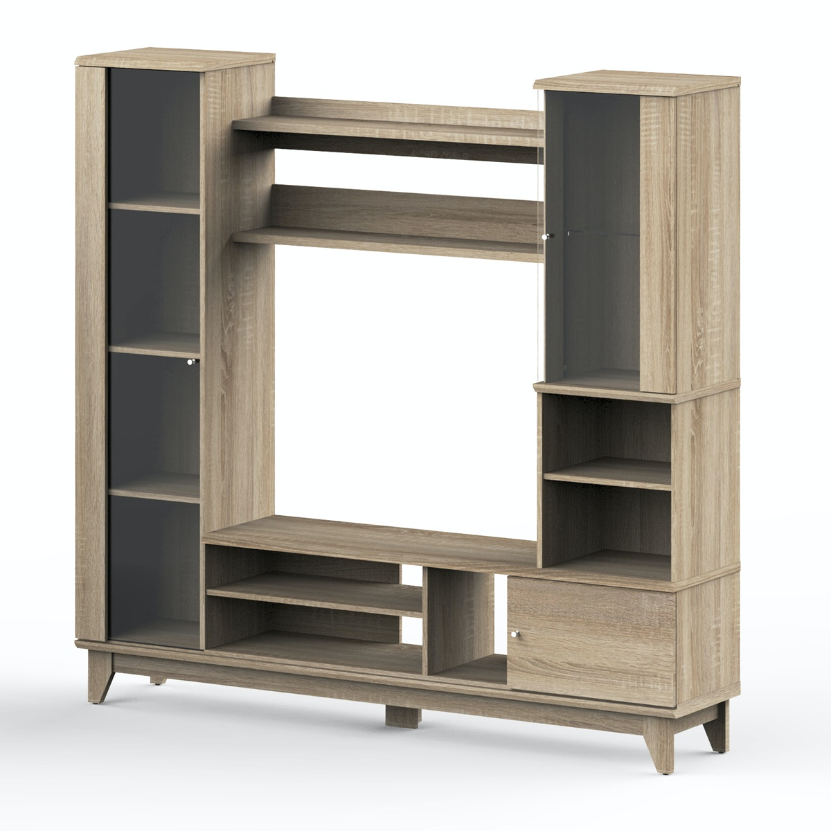 toraja wall unit tv sonoma oak