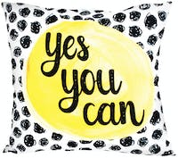 Glerry Home Decor Yes You Can Cushion 40x40cm (Insert+Cover)