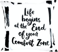 Glerry Home Decor Life Begins Cushion 40x40cm (Insert+Cover)