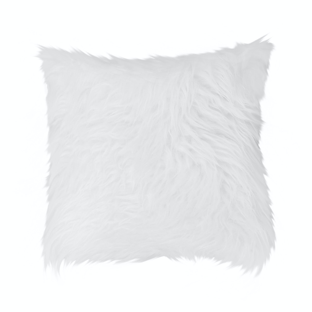Glerry Home Decor White Fur Cushion 40x40cm