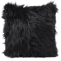Glerry Home Decor Black Fur Cushion 40x40cm