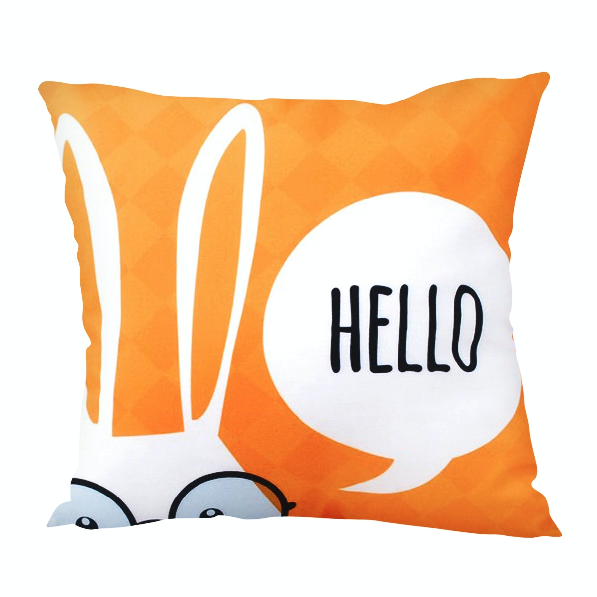 Glerry Home Decor Hello Yellow Cushion 40x40cm (Insert+Cover)