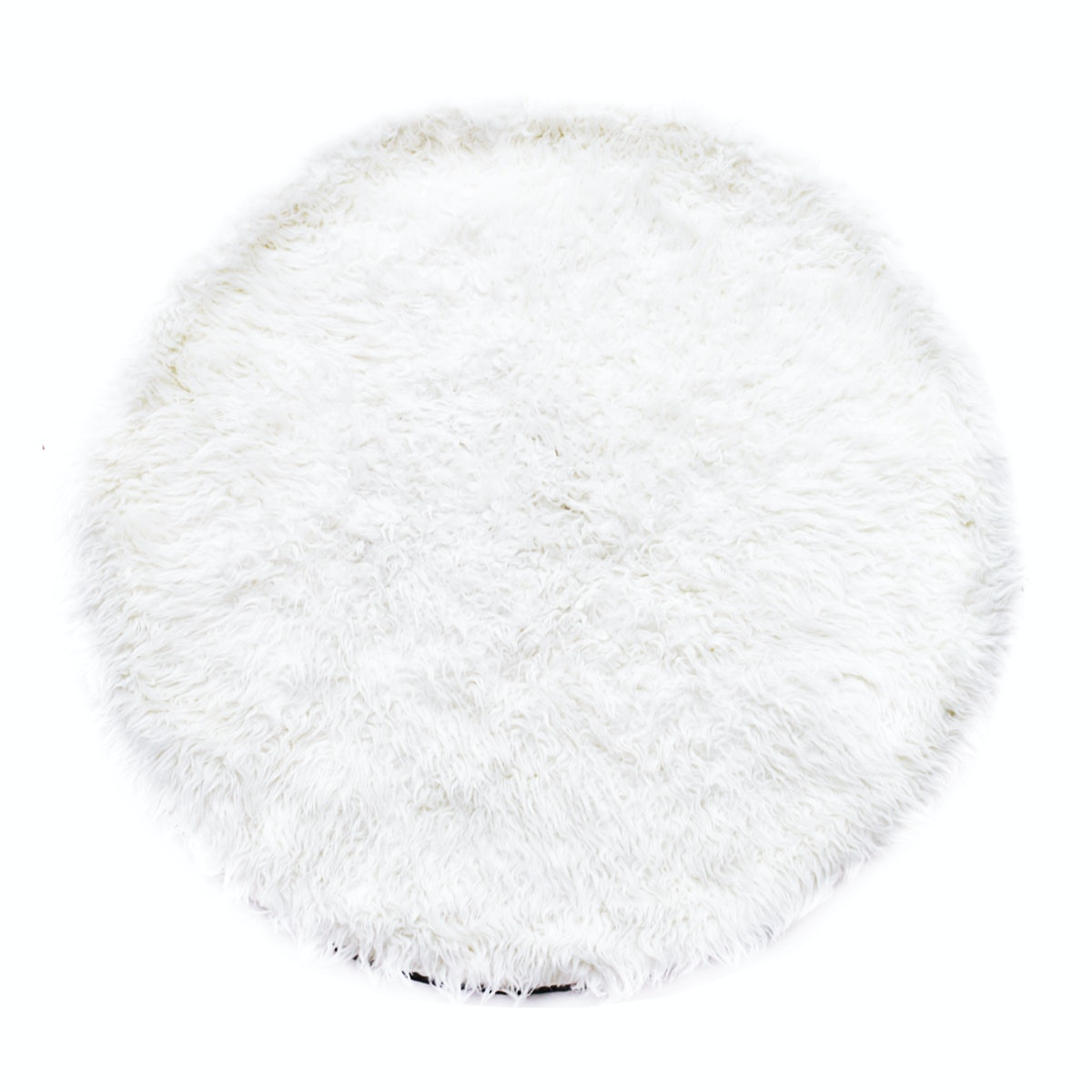 Glerry Home Decor Round White Fur Rug 100 cm