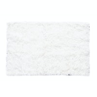 Glerry Home Decor Square White Fur Rug 100x130cm