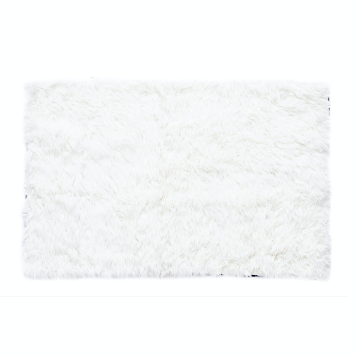 Glerry Home Decor Square White Fur Rug 200x130cm