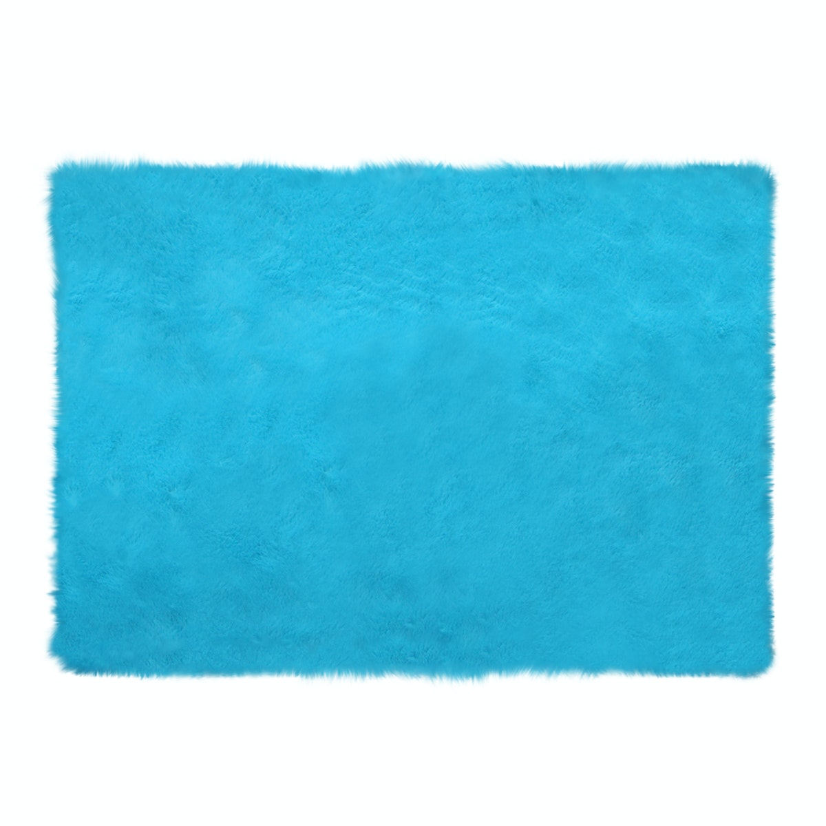 Glerry Home Decor Square Blue Mint Fur Rug 100x150cm