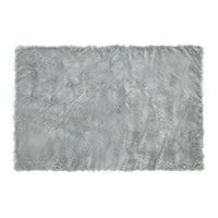 Glerry Home Decor Square Grey Fur Rug 100x150cm