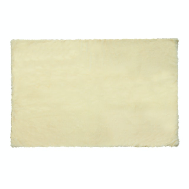 Glerry Home Decor Square Cream Fur Rug 100x150cm