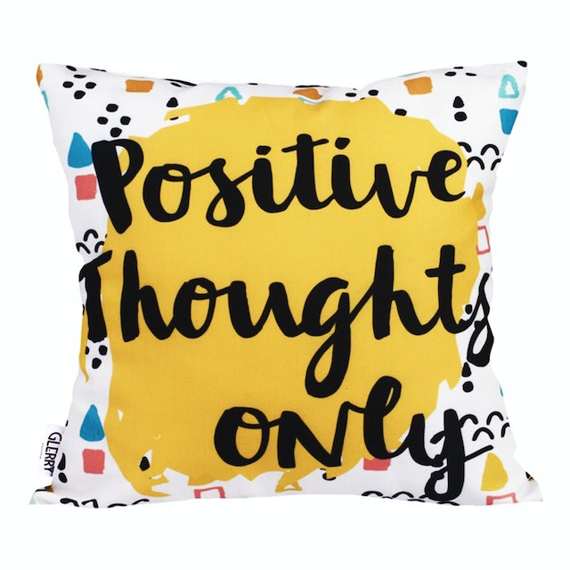 Glerry Home Decor Positive Only Cushion 40x40cm (Insert+Cover)