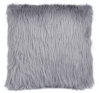 Glerry Home Decor Silver Fur Cushion 40x40cm