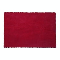 Glerry Home Decor Square Red Fur Rug 200x150cm