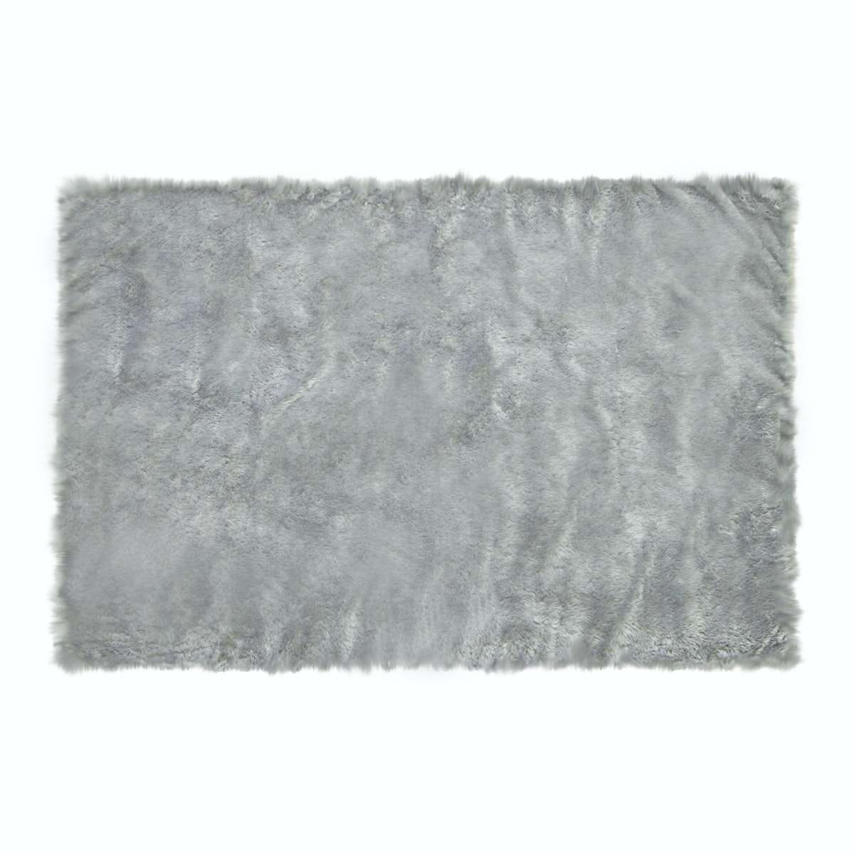 Glerry Home Decor Square Grey Fur Rug 200 x 150 cm
